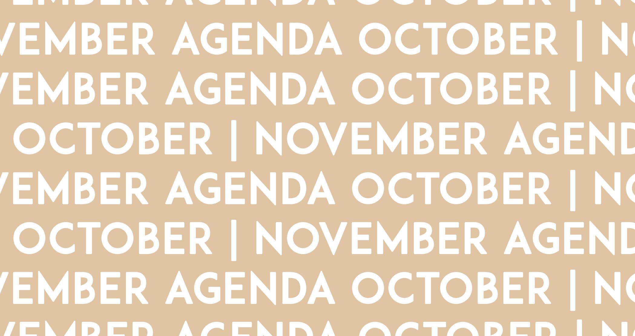 DOOR AGENDA/October-November