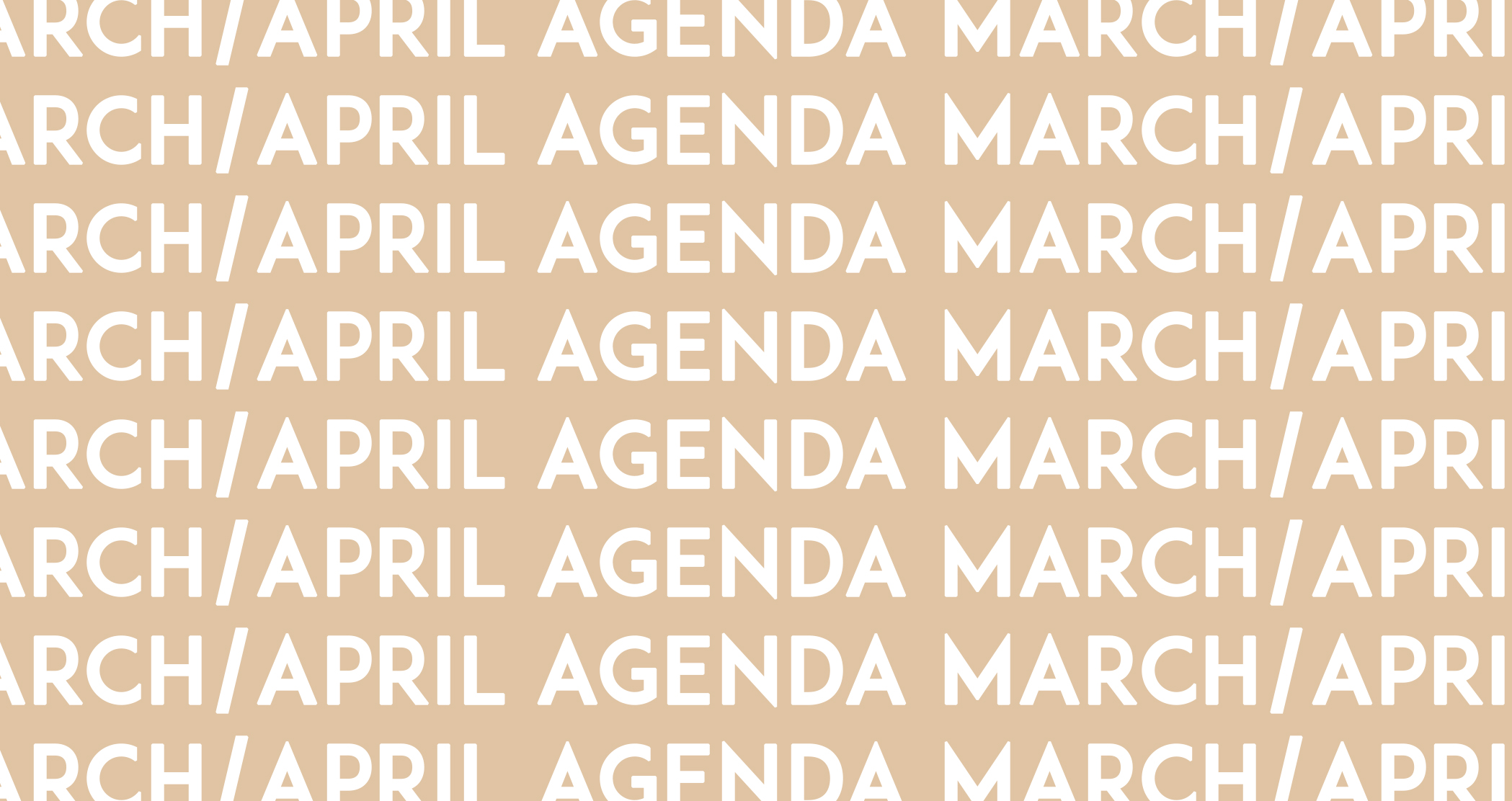 DOOR AGENDA/March-April