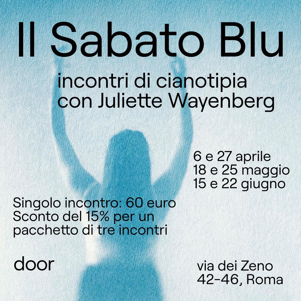 Il Sabato Blu/Incontri di cianotipia
